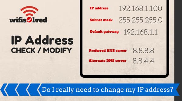 Changing IP Address